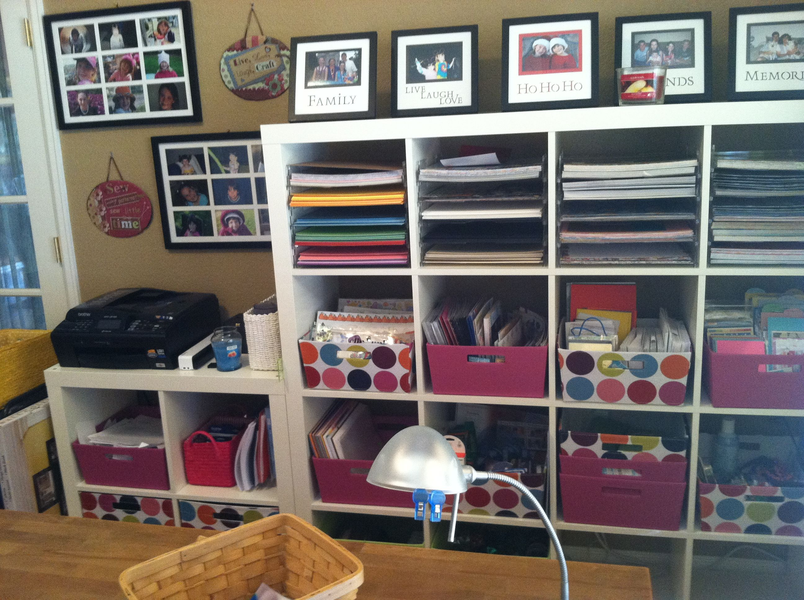 Storage Solutions For Craft Rooms: Scrapbook Room