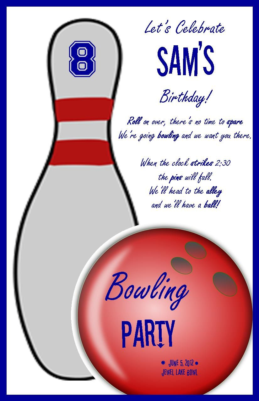 bowling birthday party | Profoundly Ordinary | Party Ideas ...