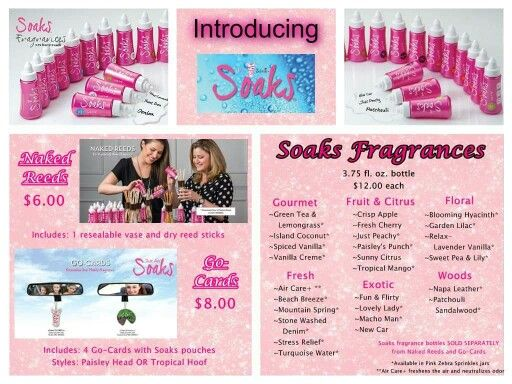 Soaks comes in so many different fragrances get yours today  www.pinkzebrahome.com/lorishear