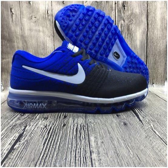 reputable site c6e15 b7a86 Nike Flyknit Max 2017 Mens running shoes Black sapphire blue