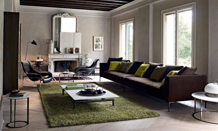 arredo-soggiorno-moderno-grande-tappeto-verde | INTERIOR DESIGN ...