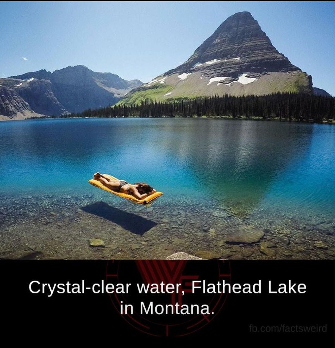 Flat Head Lake In Montana