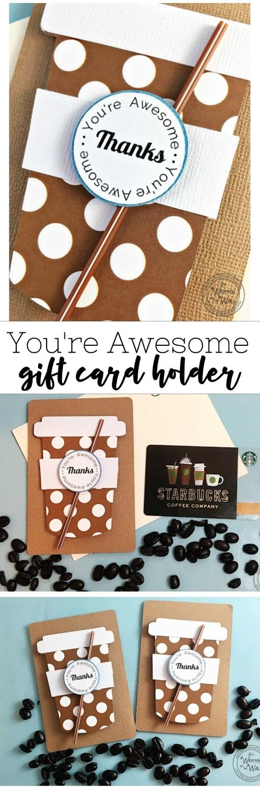 You're Awesome Gift Card Holder-Starbucks Gift Card