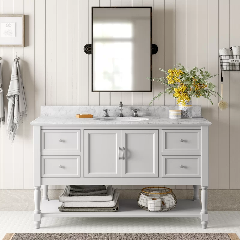 Cedardale 60 Single Bathroom Vanity Set Reviews Birch Lane In 2020 Single Bathroom Vanity Bathroom Vanity Base Bathroom Vanity