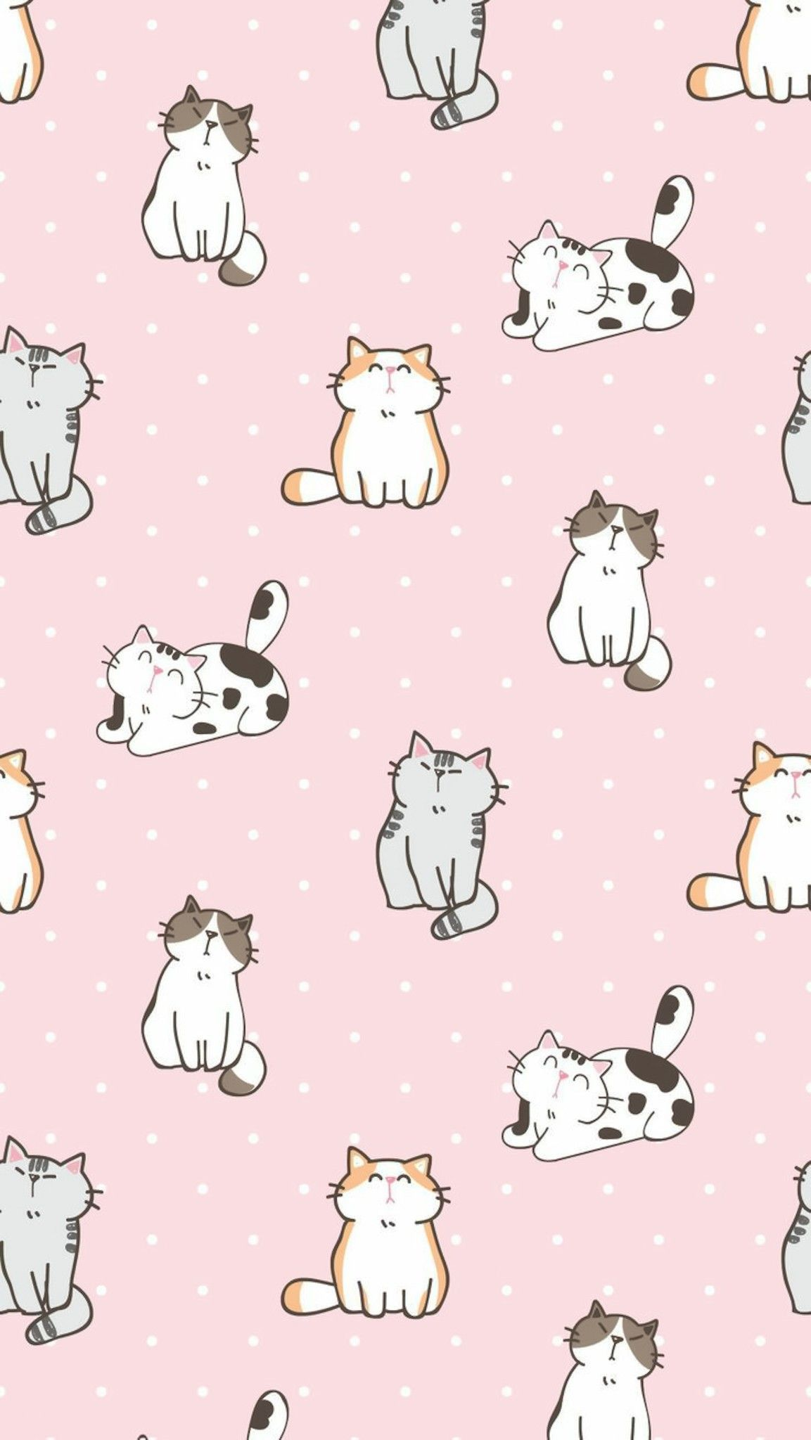 Wallpaper Cat Wallpaper Iphone Backgrounds Pattern Wallpaper Cute Pastel Wallpaper Cat Pattern Wallpaper Kawaii Wallpaper