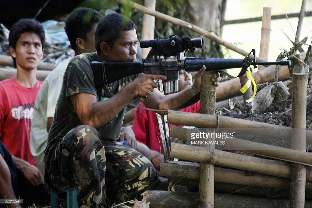 Philippine army sniper