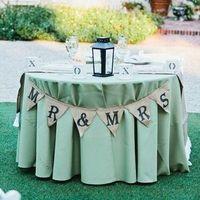 Burlap Sweetheart Table Banner