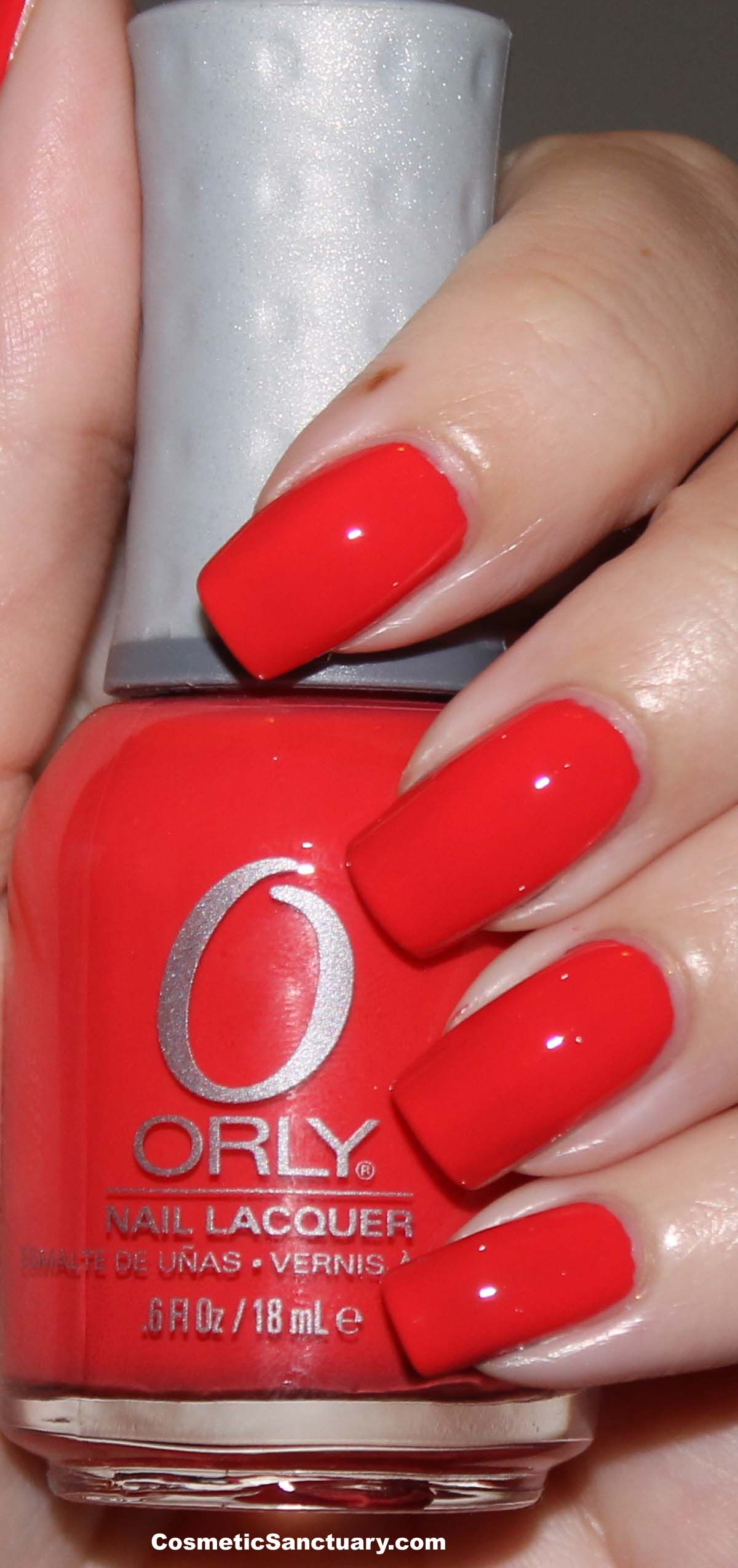 Orly Precisely Poppy is a gorgeous bright red with a tinge of ...