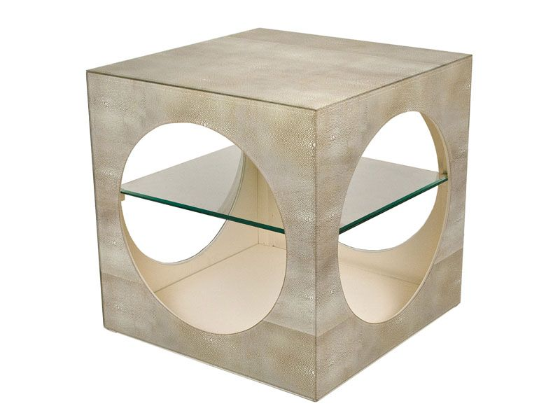 Ivory Shagreen Cude Side Table, crafted to offer ease and storage options to let you have everything close to your hands.