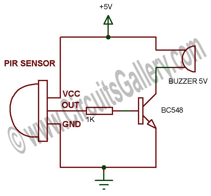 Pir Motion Sensor Alarm Circuito Eletronico Projetos Arduino Componentes Eletronicos