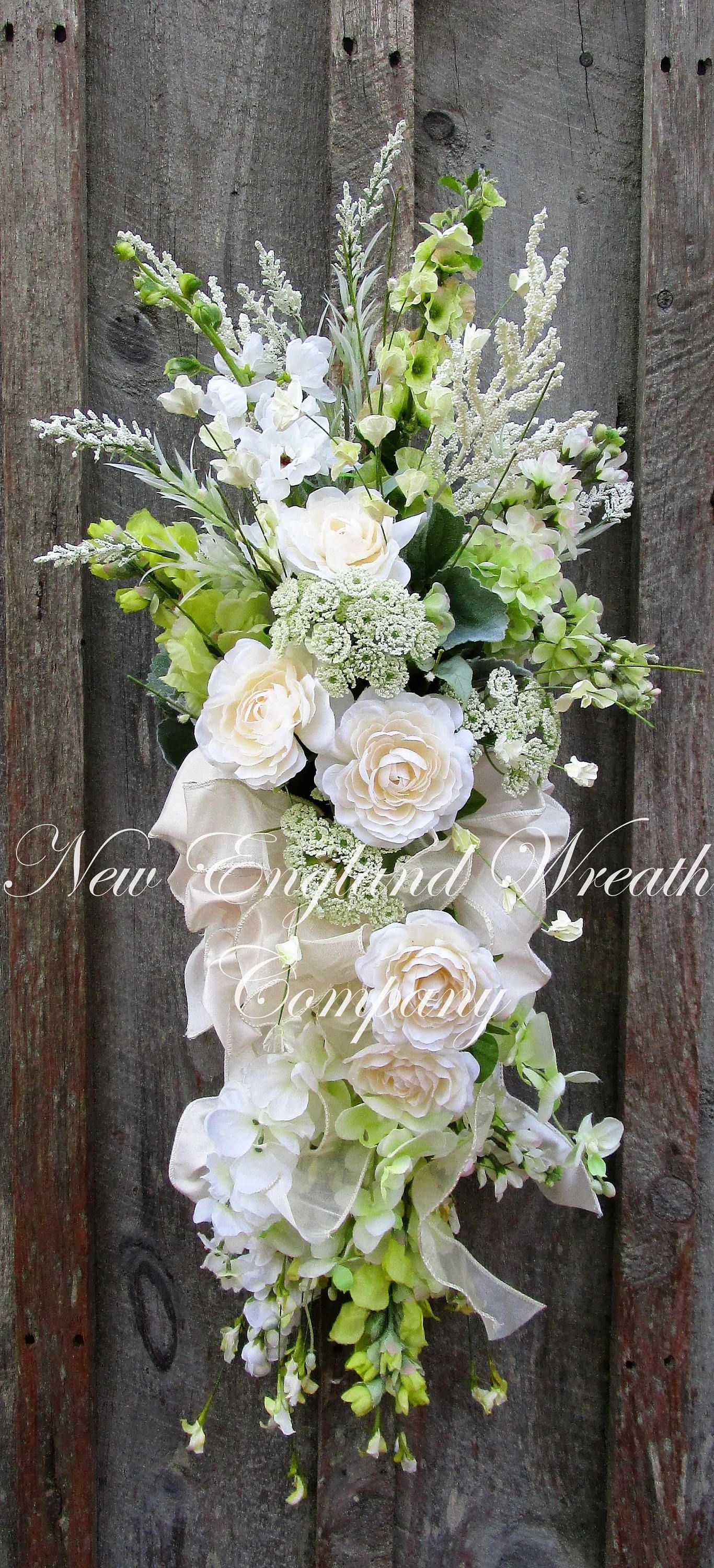 Chestnut Hill Floral Swag A New England Wreath Company