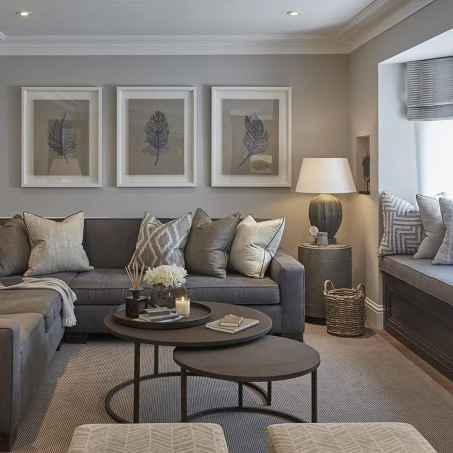 Grey Walls Living Room Ideas Dark Sectional Decorating And For Small Apartment 903x903 Jpg 903 903 Tan Living Room Earthy Living Room Elegant Living Room
