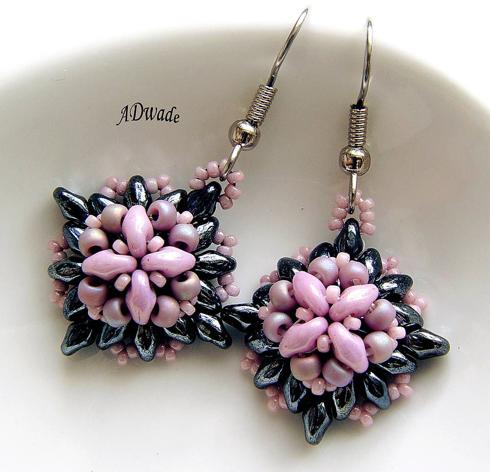 Beaded earrings Roseate