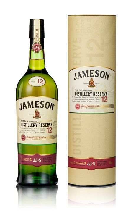 Jameson Distillery Reserve Aged 12 Years Bottle Label Design Jameson Distillery Soju Bottle