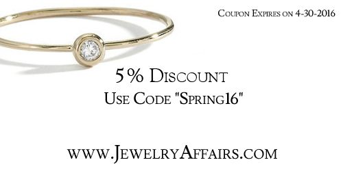 Spring 2016 Jewelry Discount Coupon.
