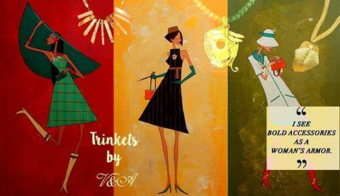 """""""Style is a way to say who you are without having to speak"""". Trinkets by V&A presents a #pretty range of #accessories for a #stylish """"You"""". #Trinketsbyva"""