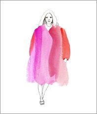 Fashion illustration by Kristina Nowothnig. available as poster/print at posterlounge.de