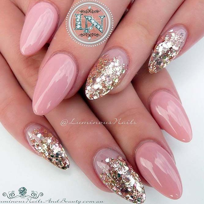 21 Awesome Pink and Gold Nails Designs Every Girl Should Try | Nail ...
