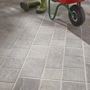Carrelage Exterieur Sanpietrini En Gres Cerame Emaille Gris 34 X 34 Cm Flooring Home Construction Tiles