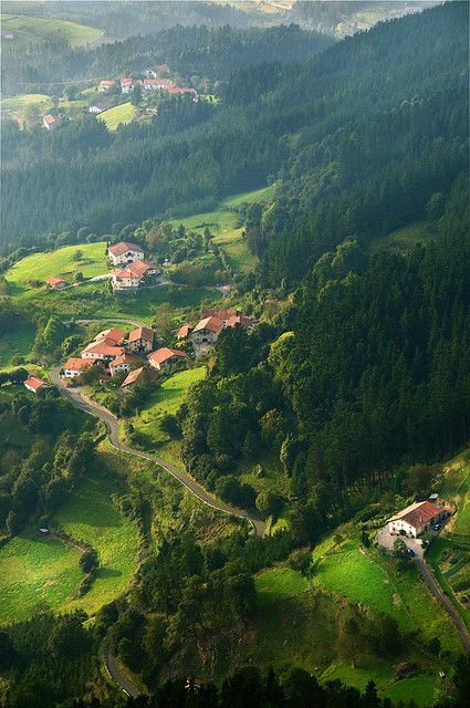 aulesti, basque country, spain   villages and towns in europe + travel destinations #wanderlust