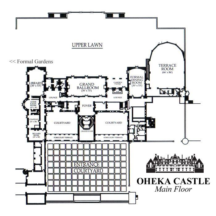 Oheka Castle Main Floor Floor Plan The Gilded Age