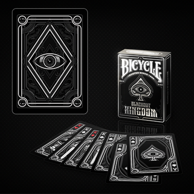 BLACKOUT KINGDOM BICYCLE DECK PLAYING CARDS BY GAMBLERS WAREHOUSE MAGIC TRICKS