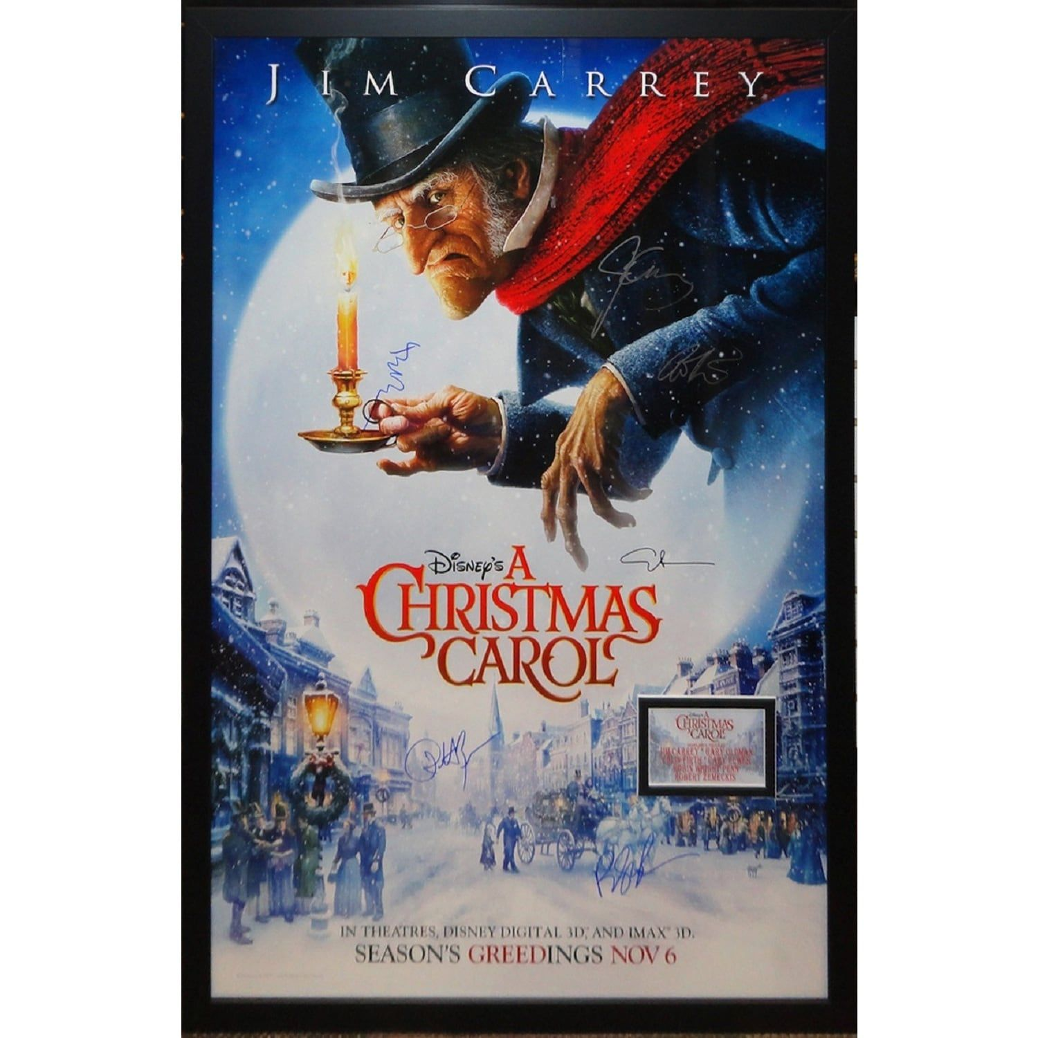 Luxe A Christmas Carol Signed Movie Poster Best