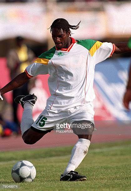 Football 2002 World Cup Qualifier African Second Round Group C 21st April 2001 Dakar Senegal Senegal 3 v Algeria 0 Senegal's Salif Diao