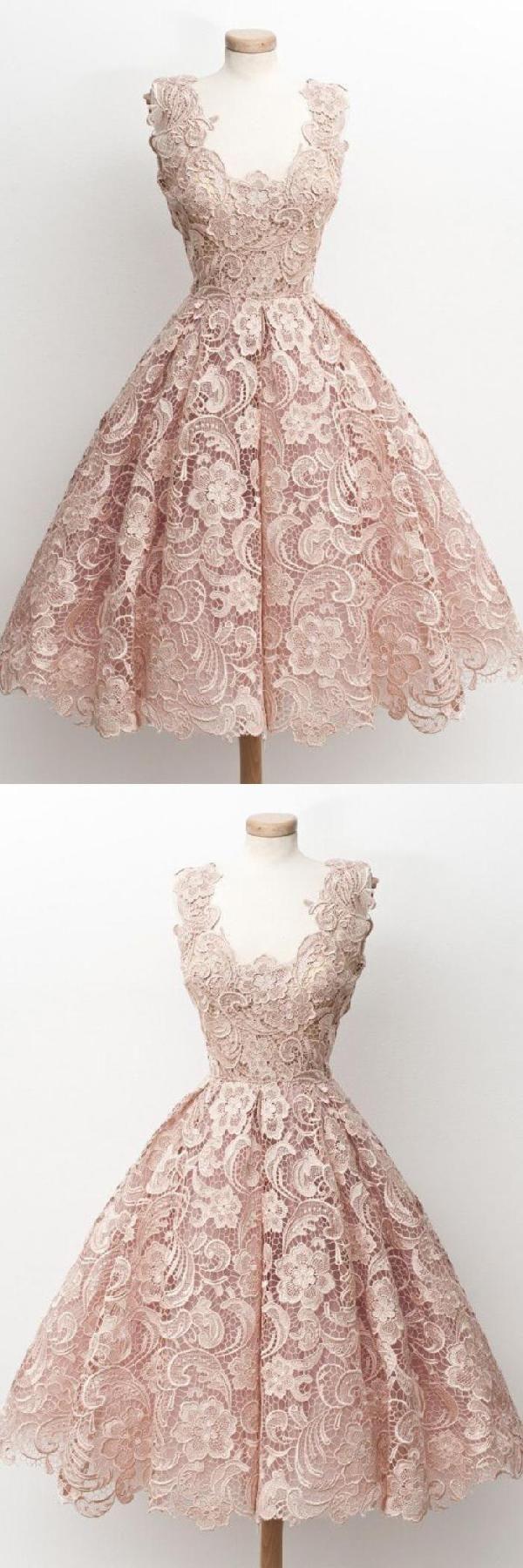 Custom made fine vintage prom dresses blush prom dresses lace prom