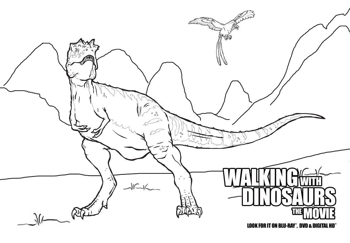 Color in all of your favorite dinosaurs from Walking With Dinosaurs by printing out this page.