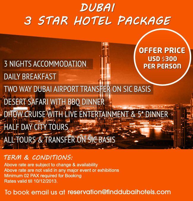 Dubai 3 Star #Hotel & #Tour Package  | Travel & Places