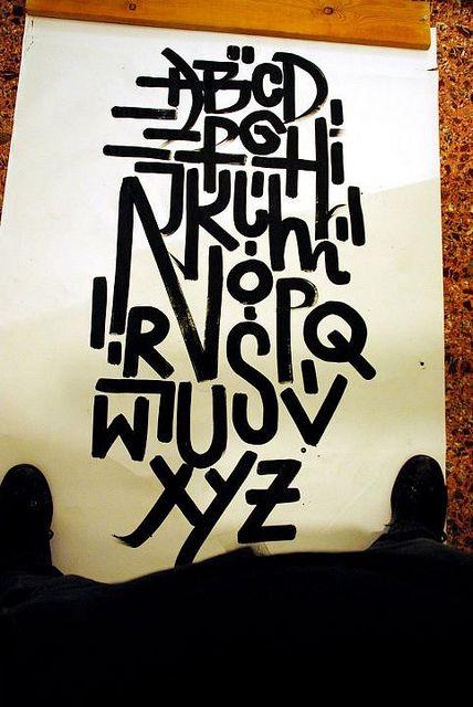 type experiment by graffiti artist Greg Papagrigoriou