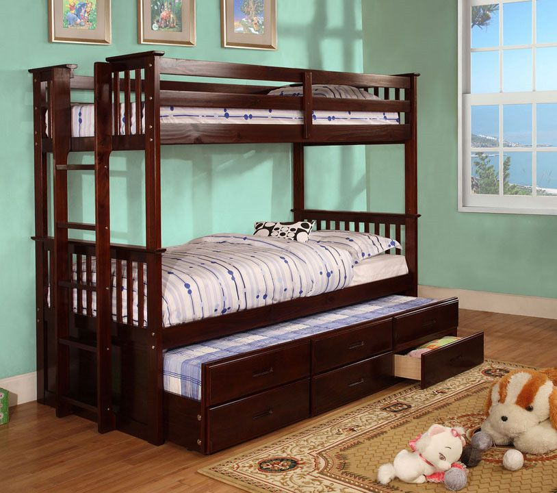 University Trundle Bunk Bed Twin Bunk Beds Bunk Bed With Trundle Bunk Beds