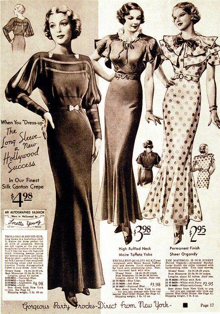 Vintage Advertisement 1930s Fashion Young Fashion 1930s Fashion Dresses