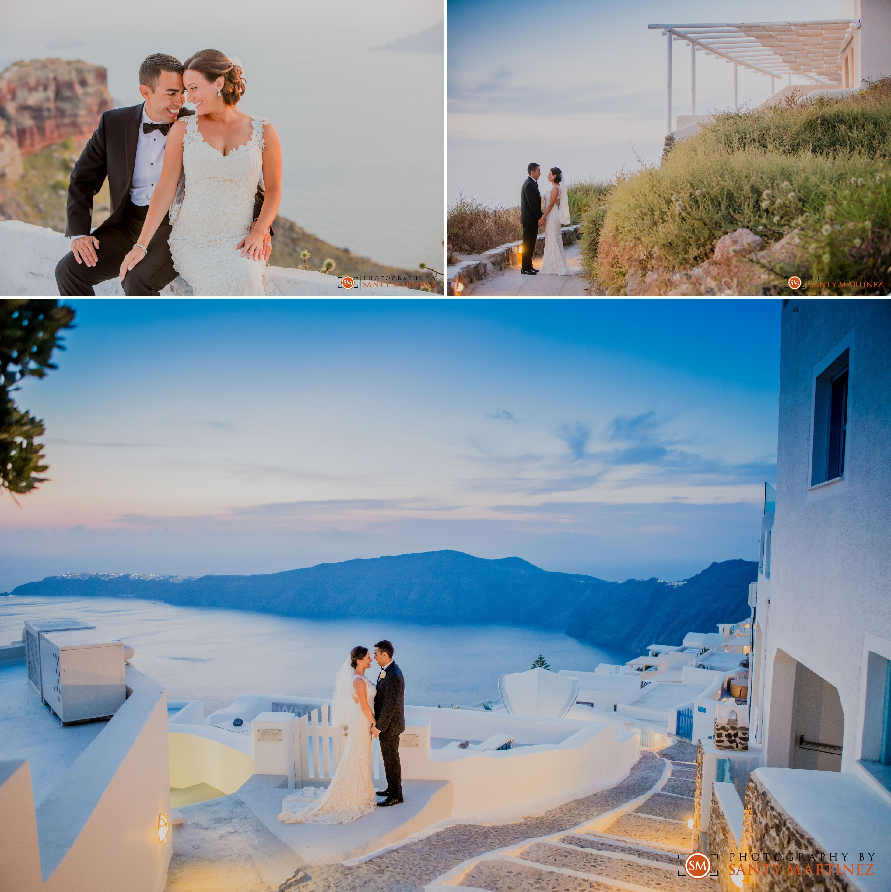 Wedding in Santorini, Greece | Photography by Santy Martinez | Bride and Groom