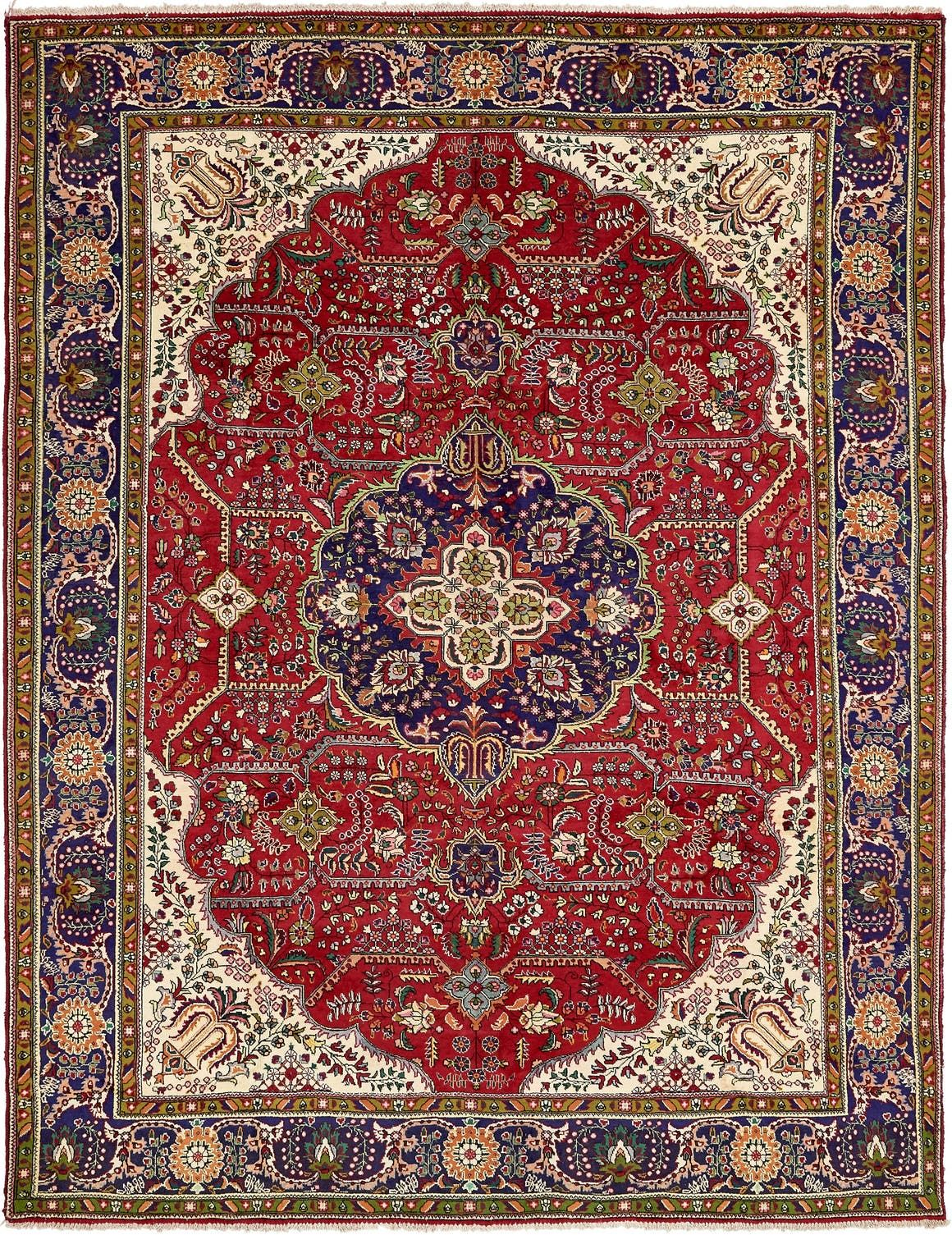 Tabriz Red Antique 9x12 Large Area Rug In 2020 Rugs Large Area Rugs Persian Rug