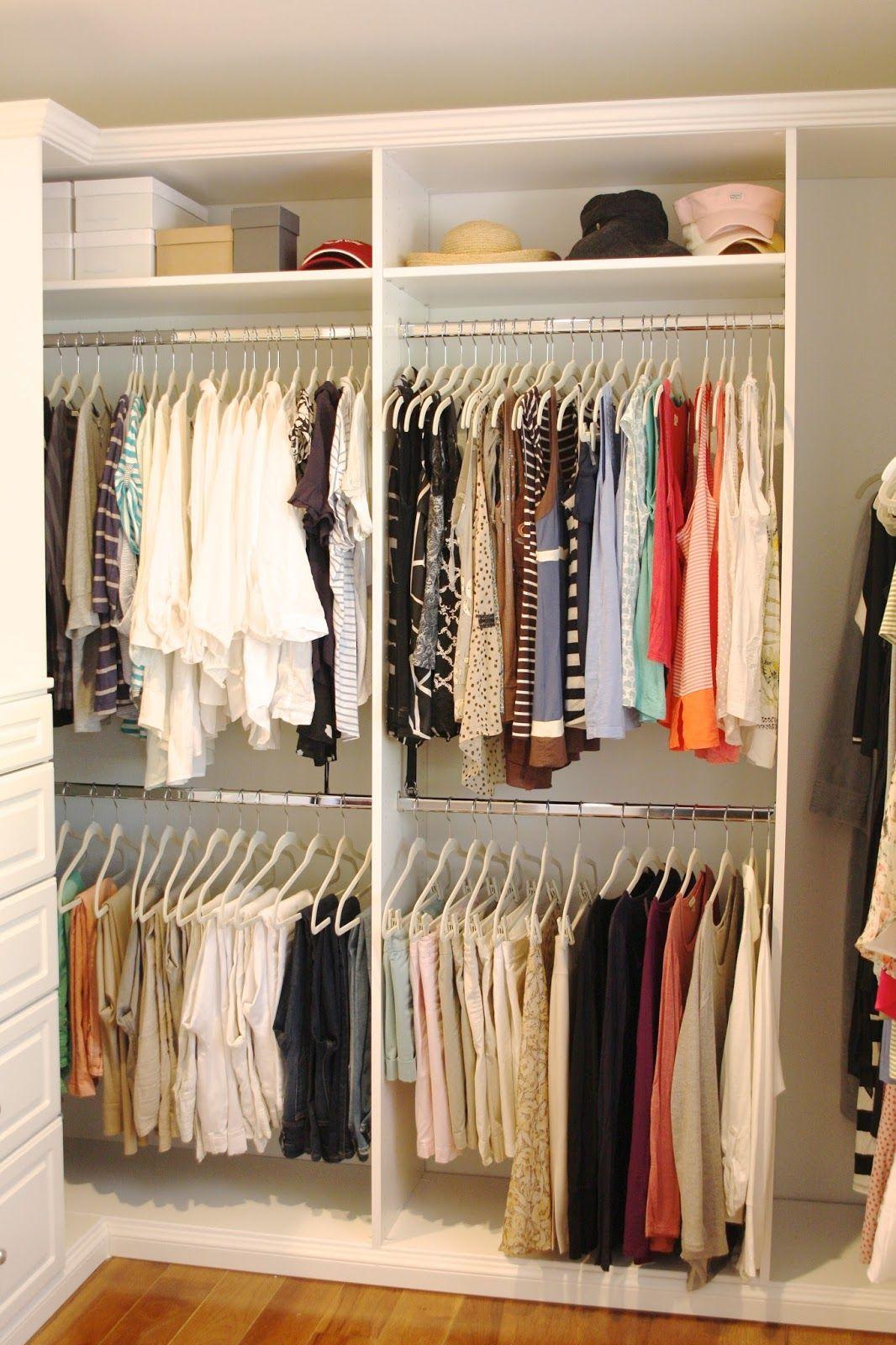 Organized Master Closet Hanger Organizing and Master closet