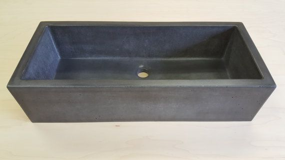 Rectangle Vessel Sink (The Skinny). Concrete SinkConcrete SealerConcrete ...