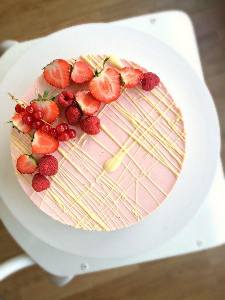 Strawberry Cheesecake With White Chocolate Cheesecake