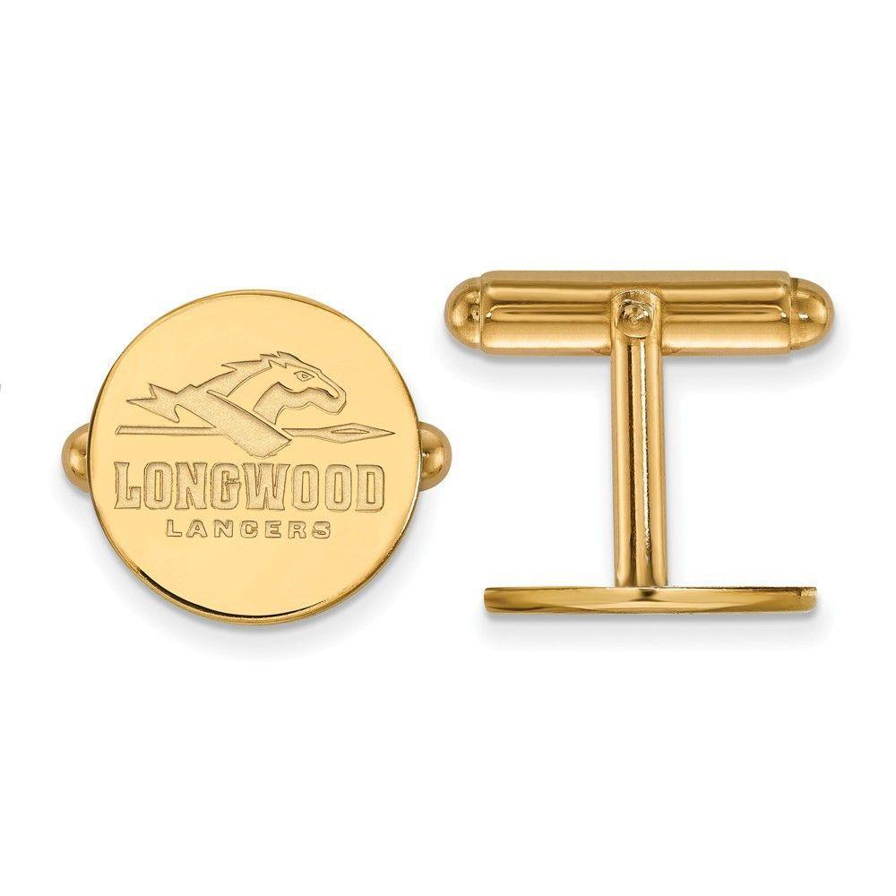 Sterling Silver w/GP LogoArt Longwood University Cuff Link
