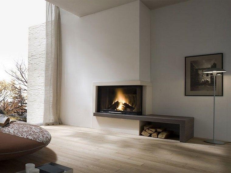 salón moderno al estilo minimalista con chimenea | chimenea ... - Salone Moderno Con Camino 2