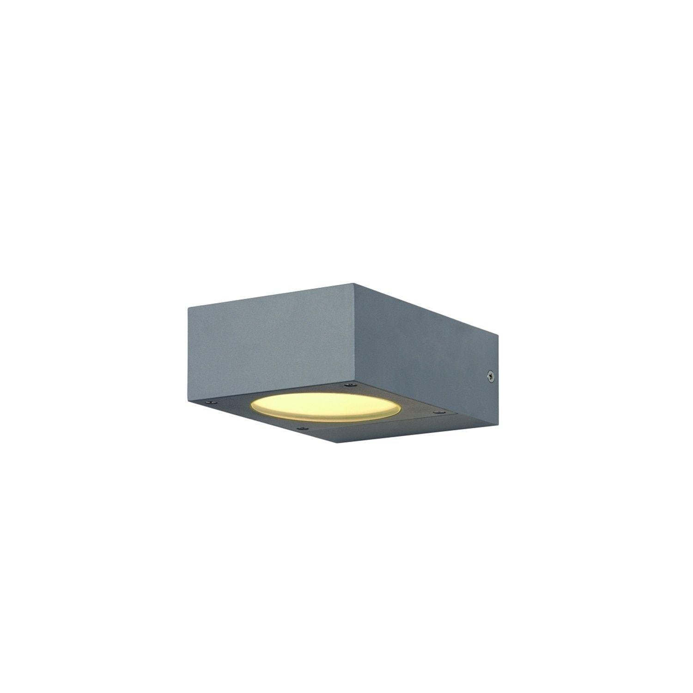 slv quadrasyl  SLV Lighting Quadrasyl 1-light Silver Grey Outdoor Wall Lamp (Silver ...