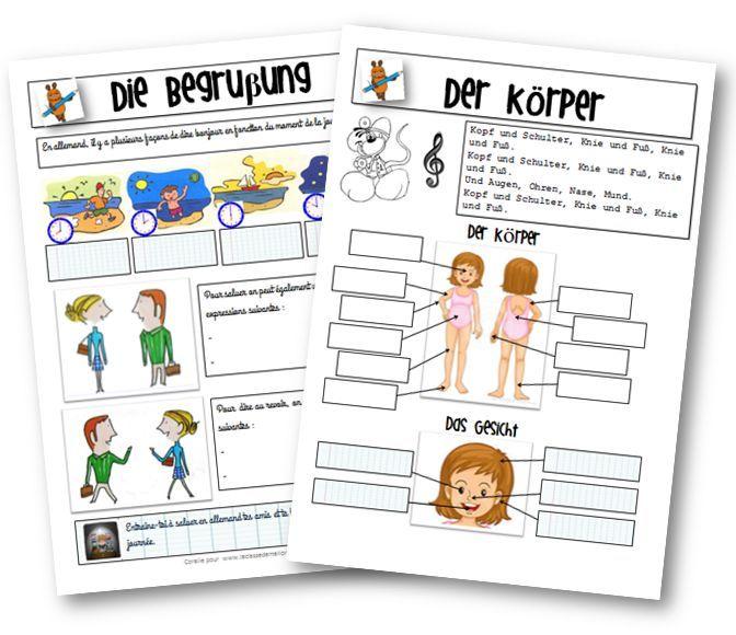 Des fiches pour l\'apprentissage de l\'allemand en primaire | Français ...