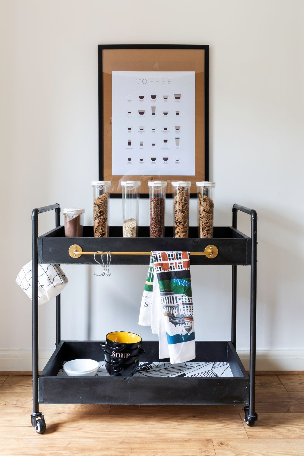 Easy diy how to build a rolling bar cart rolling bar