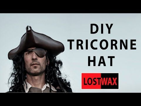 92f2153118c How to make a tricorn pirate hat from foam. DIY Jack Sparrow. - YouTube