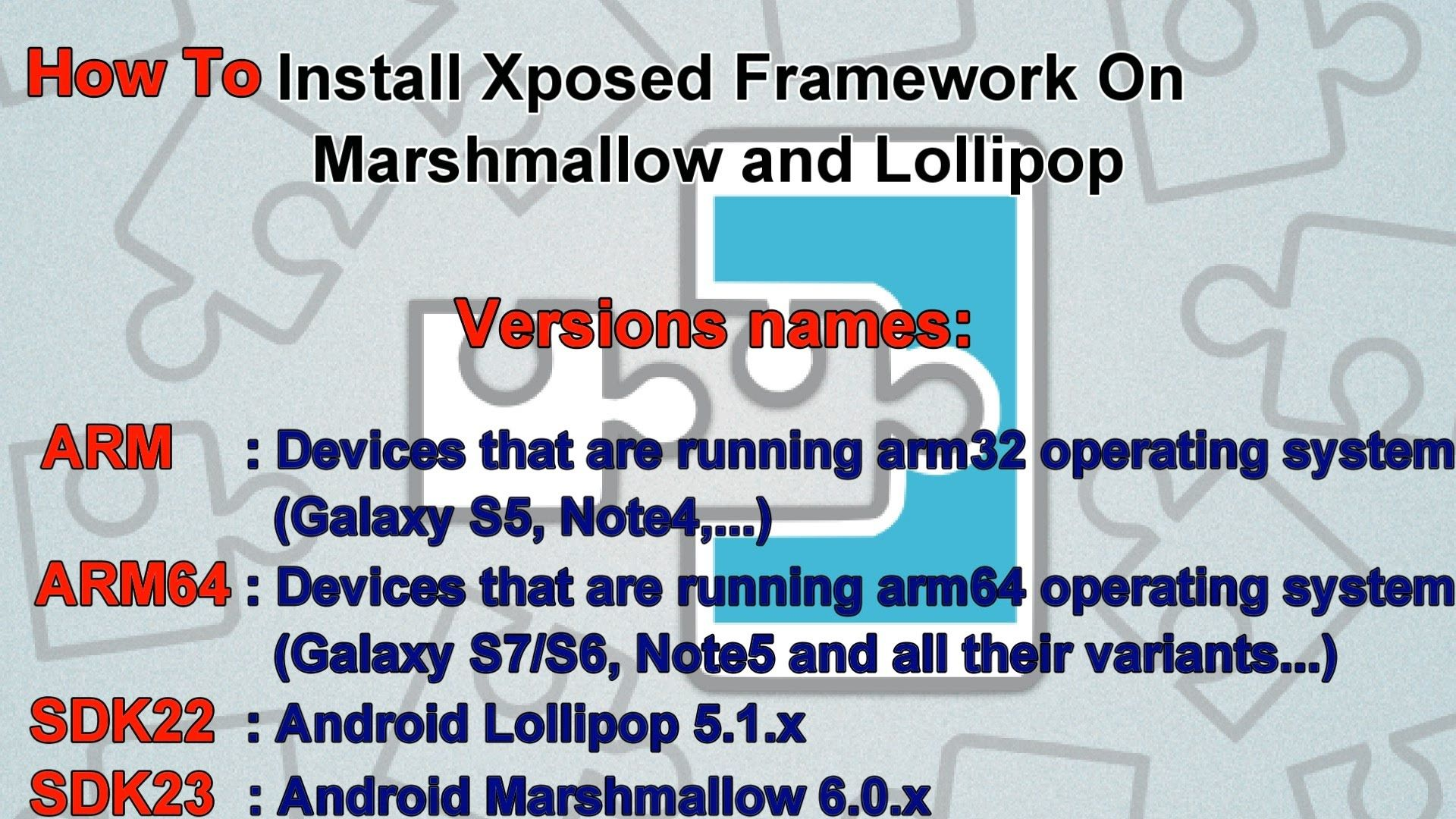 How To Install Xposed Framework On Marshmallow and Lollipop