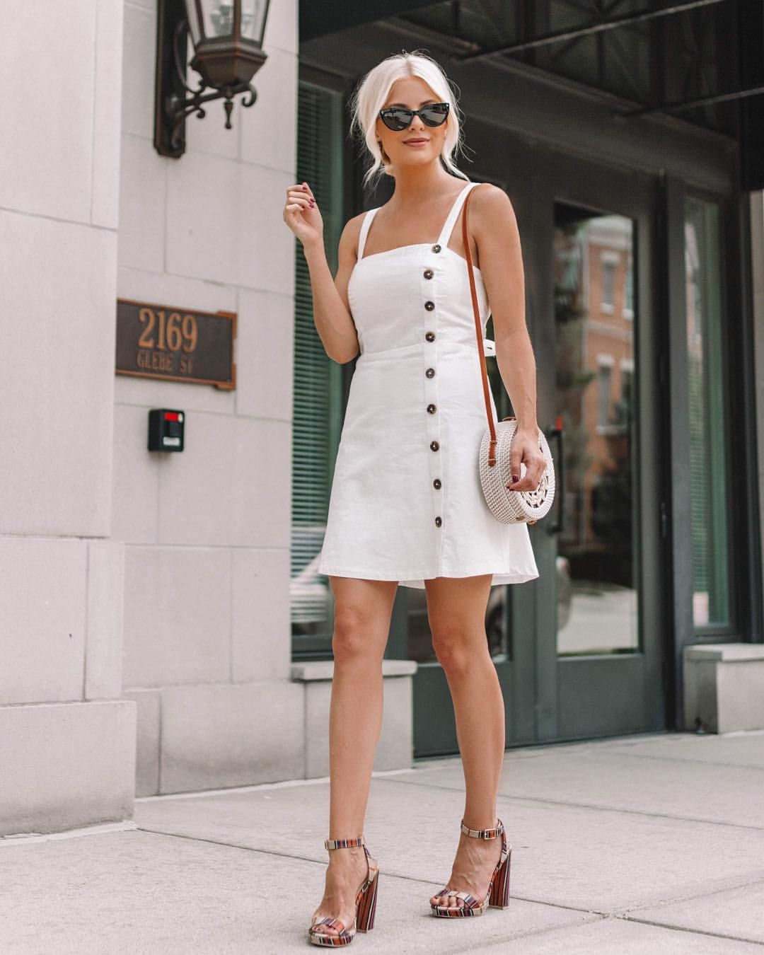 22742ba47f8 Summer Outfits    Summer Style    Little White Dress    Summer Dresses     Cute Outfits    Lemon Blonde