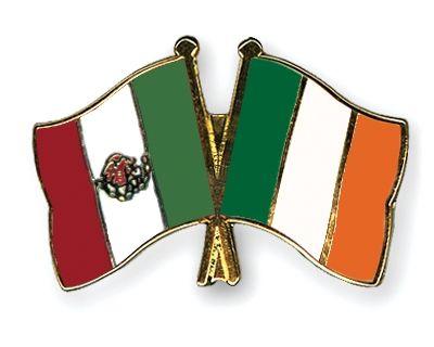 Mexico Ireland Flag Pins Cross Flag Mexican Connection Italian Culture