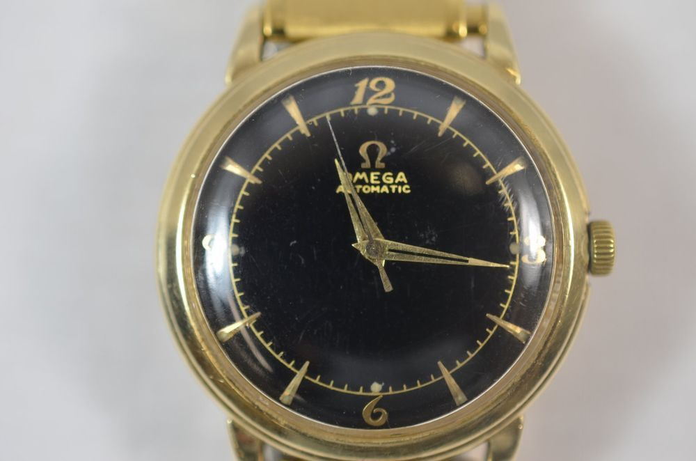 1955 Omega Cal 354 17 Jewel Bumper Watch Automatic Swiss 14k Gold