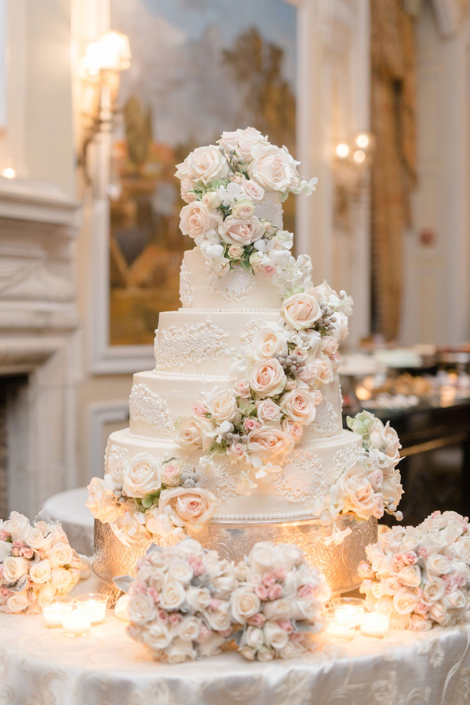 Inside Weddings Wedding Cakes With Flowers Elegant Wedding Cakes Dream Wedding Cake